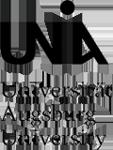 Das Logo der Universität Augsburg. Darauf steht: UNI A Universität Augsburg University